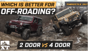 Which Jeep is best Jeep? A 2 door vs 4 door JK Off-Road Comparison from ExtremeTerrain