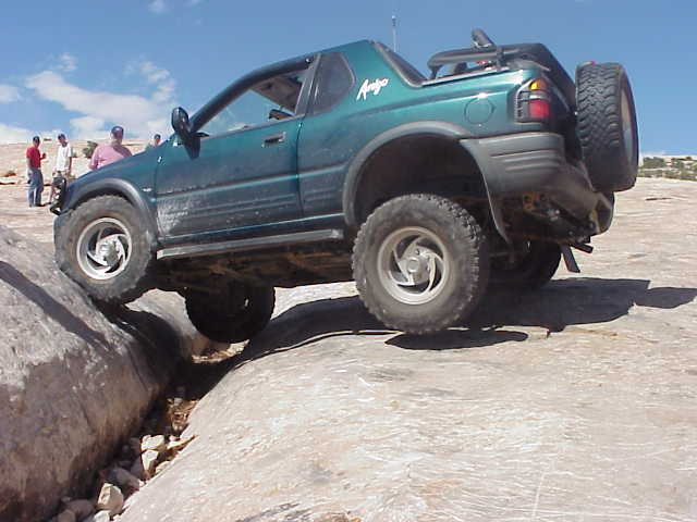 Lifting late model isuzus proving the capabilities of the lift on the golden crack in moab utah solutioingenieria Images