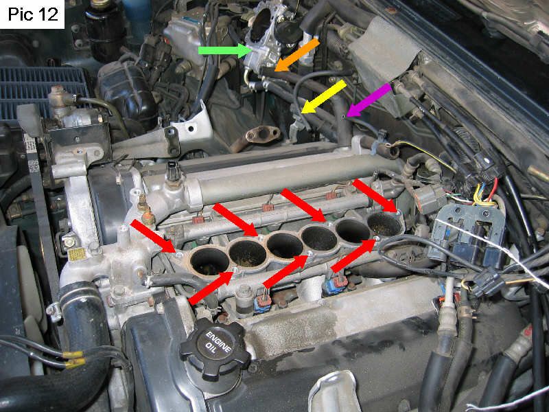 Changing The Lower Intake Plenum On A 1995 Montero Sr With