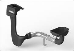 The internal portion of the modular snorkel system from Rugged Ridge.