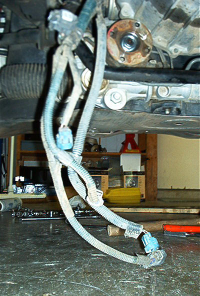 remove the wiring harness from the transmission